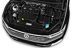 Car Stock 2016 Volkswagen Passat Alltrack 5 Door Wagon Engine  high angle detail view