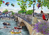 Interlitho-Franco, LANDSCAPES, LANDSCHAFTEN, PAISAJES, paintings+++++,london bridge,KL4568,#l#, EVERYDAY