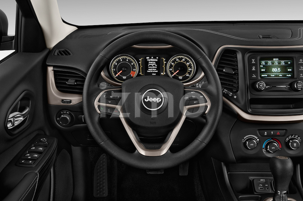 Car pictures of steering wheel view of a 2014 JEEP Cherokee Longitude 4 Door SUV Steering Wheel