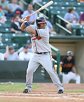 Brayan Pena of the Richmond Braves vs. the Rochester Red Wingss:  May 31st, 2007 at Frontier Field in Rochester, NY. Photo By Mike Janes/Four Seam Images