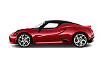 Car Driver side profile view of a 2017 Alfaromeo 4C - 2 Door Coupe Side View