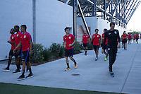 Santa Clara, CA. - June 1, 2016: The USMNT train in preparation for the 2016 Copa Centenario opening match versus Colombia at Levi's stadium.