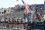 Palos Verdes, CA 09/09/11 - Song and Cheer sing the national anthem before the start of the game against North Torrance.