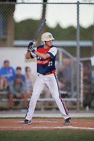 Kyle Reece during the WWBA World Championship at the Roger Dean Complex on October 20, 2018 in Jupiter, Florida.  Kyle Reece is an outfielder from Cypress, Texas who attends Cy-Fair High School.  (Mike Janes/Four Seam Images)