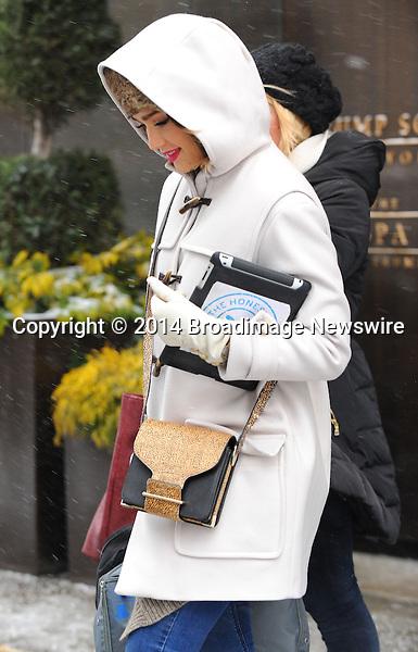 Pictured: Jessica Alba<br /> Mandatory Credit &copy; Jayme Oak/Broadimage<br /> Jessica Alba leaving her hotel in Manhattan<br /> <br /> 1/22/14, New York, New York, United States of America<br /> <br /> Broadimage Newswire<br /> Los Angeles 1+  (310) 301-1027<br /> New York      1+  (646) 827-9134<br /> sales@broadimage.com<br /> http://www.broadimage.com