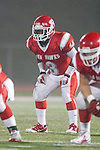 Redondo Beach, CA 10/14/11 - Deon Williams (Redondo Union #3) in action during the Peninsula vs Redondo Union varsity football game.