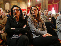 Valeria Valente , Assunta Tartaglionedurante la cerimonia di innagurazione anno giudiziario in Campania <br /> Salone dei Busti Castel Capuano Napoli