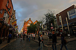 A Rainbow is seen over Temple Bar Street in Dublin, Ireland on Saturday, June 22nd 2013. (Photo by Brian Garfinkel)