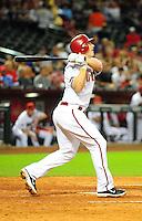 Apr. 11, 2011; Phoenix, AZ, USA; Arizona Diamondbacks infielder Stephen Drew against the St. Louis Cardinals at Chase Field. Mandatory Credit: Mark J. Rebilas-