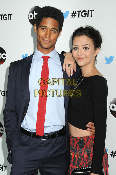 20 September 2014 - West Hollywood, California - Alfred Enoch, Katie Findlay. ABC's &quot;Thank Good It's Thursday!&quot; Premiere Event for &quot;Grey's Anatomy&quot;, &quot;Scandal&quot;, &quot;How To Get Away With Murder&quot; held at Palihouse.  <br /> CAP/ADM/BP<br /> &copy;Byron Purvis/AdMedia/Capital Pictures