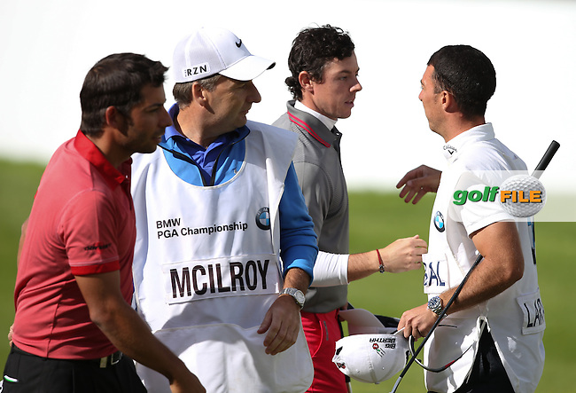 Rory McIlroy (NIR) completes his round with a 66 during the Final Round of the BMW PGA Championship from Wentworth Golf Club, Virginia Waters, London, UK. Picture:  David Lloyd / www.golffile.ie