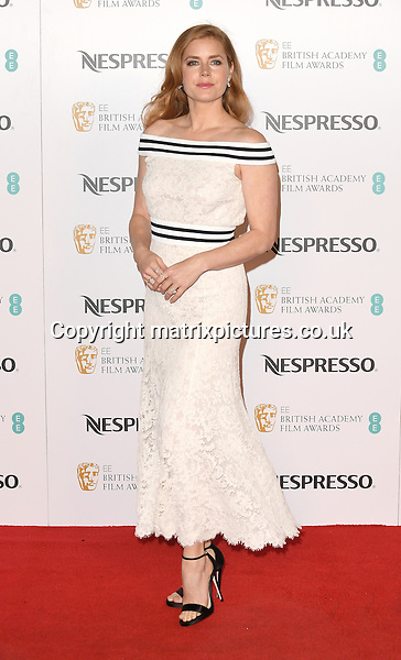 NON EXCLUSIVE PICTURE: PAUL TREADWAY / MATRIXPICTURES.CO.UK<br /> PLEASE CREDIT ALL USES<br /> <br /> WORLD RIGHTS<br /> <br /> American actress Amy Adams attends the BAFTA nominees party at Kensington Palace in London.<br /> <br /> FEBRUARY 11th 2017<br /> <br /> REF: PTY 17301