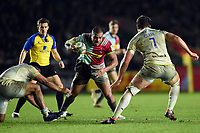 Kyle Sinckler of Harlequins in possession. Aviva Premiership match, between Harlequins and Saracens on December 3, 2017 at the Twickenham Stoop in London, England. Photo by: Patrick Khachfe / JMP