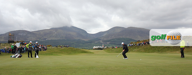 Shane LOWRY (IRL) on the 1st green during round 3 of the 2015 Dubai Duty Free Irish Open hosted by the Rory Foundation, Royal County Down Golf Club, Newcastle Co Down, Northern Ireland. 30/05/2015<br /> Picture TJ Caffrey, www.golffile.ie