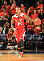 North Carolina State guard Anthony Barber (12) during the game Jan. 7, 2015, in Charlottesville, Va. Virginia defeated NC State  61-51.