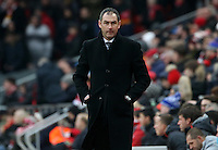 Swansea City manager Paul Clement during the Premier League match between Liverpool and Swansea City at Anfield, Liverpool, Merseyside, England, UK. Saturday 21 January 2017