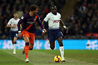 Moussa Sissoko of Tottenham Hotspur and Kyle Walker of Manchester City during Tottenham Hotspur vs Manchester City, Premier League Football at Wembley Stadium on 29th October 2018