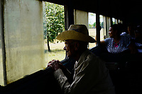 SANTIAGO DE CUBA, CUBA - APRIL 9: Cubans travel from Santiago de Cuba to Bayamo on April 9, 2018 in Cuba. Ferrocarriles de Cuba, is one of the oldest railroad around world, having opened its first route in 1837 with at least 17-mile long. Now the railway probably could cover more than 2,600 miles along the Island. (Photo by Eliana Aponte/VIEWpress)