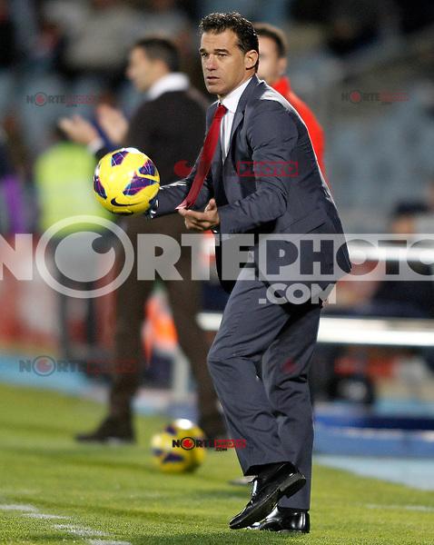 Getafe's coach Luis Garcia during La Liga match.November 18,2012. (ALTERPHOTOS/Acero) NortePhoto