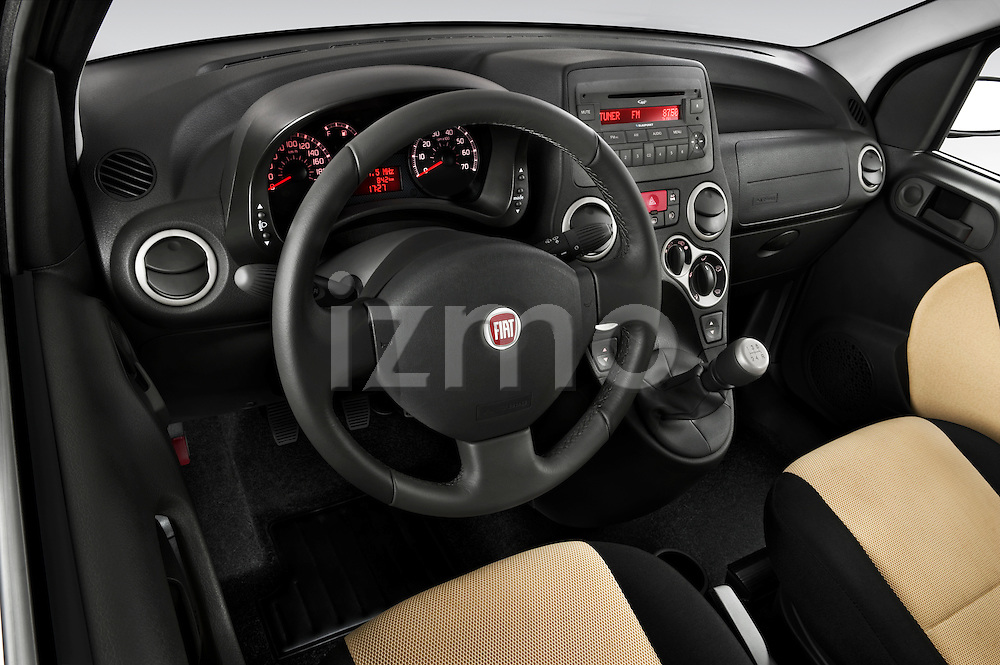 High angle dashboard view of a 2009 Fiat Panda 5 Door 4x4