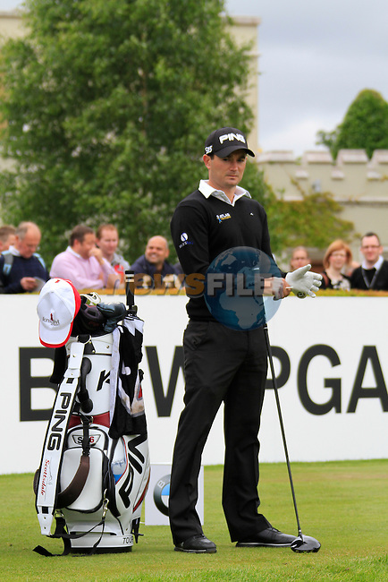 Gareth Maybin (NIR) on the 1st tee box before starting his round on Day 2 of the BMW PGA Championship Championship at, Wentworth Club, Surrey, England, 27th May 2011. (Photo Eoin Clarke/Golffile 2011)