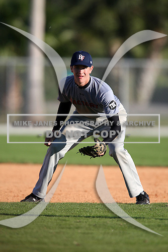 December 29, 2009:  Kevin Clifford (3) of the Baseball Factory Anteaters team during the Pirate City Baseball Camp & Tournament at Pirate City in Bradenton, Florida.  (Copyright Mike Janes Photography)