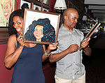 Audra McDonald & David Alan Grier.attending the celebration for Norm Lewis receiving a Caricature on Sardi's Hall of Fame in New York City on 5/30/2012