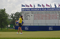 So Yeon Ryu (KOR) reacts to barely missing her birdie putt to win the 2018 KPMG Women's PGA Championship, Kemper Lakes Golf Club, at Kildeer, Illinois, USA. 7/1/2018.<br /> Picture: Golffile | Ken Murray<br /> <br /> All photo usage must carry mandatory copyright credit (&copy; Golffile | Ken Murray)