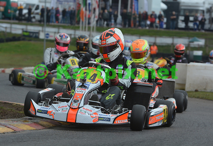 Edgar's Hyundai MSA British Kart Championship<br /> <br /> Provisional championship standings<br /> 1 Daniel Borton  154 points<br /> 2 Henry Easthope  152<br /> 3 Lucas Orrock  142<br /> 4 Matt Dittmann  137<br /> 5 Joe Charlton  134<br /> <br /> Round 1: Rowrah, 18-19 May<br /> <br /> Henry Easthope stunned the 125cc gearbox kart regulars by dominating the new MSA British Kart Championship class in the first round at Rowrah.<br /> <br /> Easthope only started fourth for the first final but reeled in pole-man Daniel Borton to relieve him of the lead mid-race. Super One Max 177 champion Lucas Orrock has changed disciplines and came fourth behind Super 4 champion Matt Dittman.<br /> <br /> In the second final Easthope enjoyed a lights-to-flag victory, with Borton a distant second while James Mudd stormed up to third after suffering a penalty in the first final.<br /> <br /> Results  Final 1<br /> 1 Henry Easthope Sodi/TM<br /> 2 Daniel Borton BRM/TM<br /> 3 Matt Dittman Tonykart/Vortex<br /> <br /> Final 2<br /> 1 Easthope<br /> 2 Borton<br /> 3 James Mudd Energy/TM