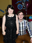 Aaron Reay celebrating his 21st birthday in the thatch with cousin Sarah McDonnell. Photo:Colin Bell/pressphotos.ie
