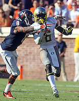 Oregon running back De'Anthony Thomas (6) Oregon defeated Virginia 59-10 Saturday at Scott Stadium in Charlottesville, VA. Photo/Andrew Shurtleff