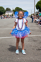 Little 4th of July Fairy Girl, Colors of Freedom Parade, Everett, WA, USA.