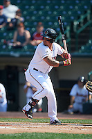 Rochester Red Wings outfielder Oswaldo Arcia (31) at bat during a game against the Indianapolis Indians on June 10, 2015 at Frontier Field in Rochester, New York.  Indianapolis defeated Rochester 5-3.  (Mike Janes/Four Seam Images)