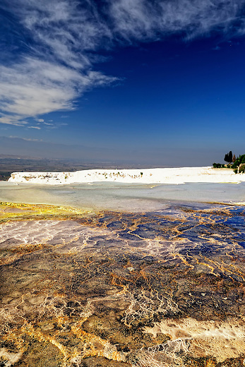 Hot springs of Hierapolis in Pamukkale, Turkey