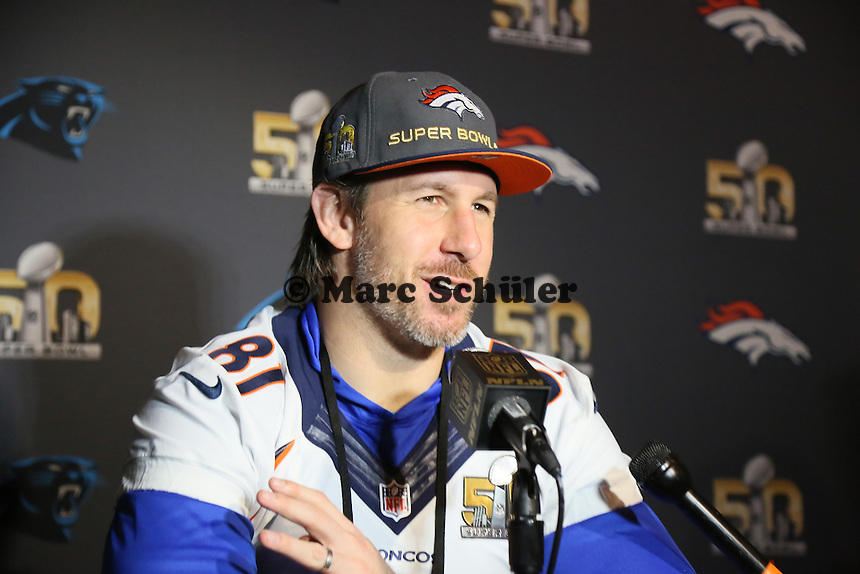 TE Owen Daniels (Broncos) - Super Bowl 50 Denver Broncos PK, Marriott Santa Clara