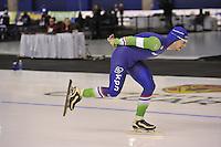 SPEEDSKATING: CALGARY: 13-11-2015, Olympic Oval, ISU World Cup, 5000m, Douwe de Vries (NED), ©foto Martin de Jong