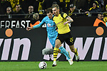 01.12.2018, Signal Iduna Park, Dortmund, GER, DFL, BL, Borussia Dortmund vs SC Freiburg, DFL regulations prohibit any use of photographs as image sequences and/or quasi-video<br /> <br /> im Bild v. li. im Zweikampf Pascal Stenzel (#15, SC Freiburg) Maximilian Philipp (#20, Borussia Dortmund) <br /> <br /> Foto © nordphoto/Mauelshagen