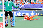 The Hague, Netherlands, June 06: Valentin Verga #10 of The Netherlands dives during the field hockey group match (Men - Group B) between Germany and The Netherlands on June 6, 2014 during the World Cup 2014 at Kyocera Stadium in The Hague, Netherlands. Final score 0-1 (0-1) (Photo by Dirk Markgraf / www.265-images.com) *** Local caption ***