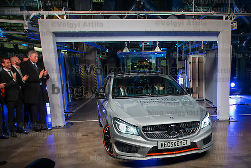 The first CLA Shooting Brake model is being introduced after it is built in the Mercedes-Benz factory in Kecskemet, (about 100 km south of Budapest), Hungary on January 20, 2015. ATTILA VOLGYI