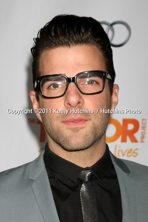"LOS ANGELES - DEC 4:  Zachary Quinto arrives at ""The Trevor Project's 2011 Trevor Live!"" at Hollywood Palladium on December 4, 2011 in Los Angeles, CA"