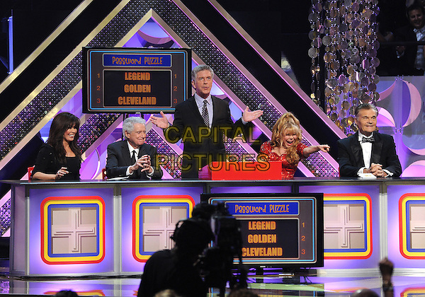 BURBANK, CA - APRIL 26: Marie Osmond, Regis Philbin, Tom Bergeron, Charo, and Fred Willard appear on the 42nd Annual Daytime Emmy Awards at the Warner Bros. Studio Lot on April 26, 2015 in Burbank, California. <br /> CAP/MPI/PGFM<br /> &copy;PGFM/MPI/Capital Pictures