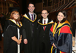 19/1/2015   (with compliments)  Attending the University of limerick conferrings on Monday afternoon were jennifer Buckley, Corbally, Evin Cowhey, Raheen, Ian Rockett, Ballykeeffe all conferred with an MSc in Work & Organisational Behaviour and Dr Deirdre O'Shea,  Lecturer, Department of Personnel and Employment Relations, KBS, UL.  Picture Liam Burke/Press 22