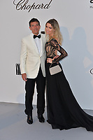 ANTIBES, FRANCE. May 23, 2019: Antonio Banderas & Nicole Kimpel at amfAR's Gala Cannes event at the Hotel du Cap d'Antibes.<br /> Picture: Paul Smith / Featureflash