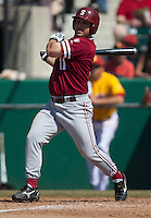 LOS ANGELES, CA - April 10, 2011: Dave Giuliani of Stanford baseball hits during Stanford's game against USC at Dedeaux Field in Los Angeles. Stanford lost 6-2.