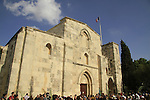 Israel, Jerusalem, Palm Sunday at Saint Anne Church