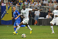 St Louis, MO., - May 30, 2014: Bosnia-Herzegovina defeated Ivory Coast 2-1 in an international friendly 'Road To Brazil' game at the Edward Jones Dome.