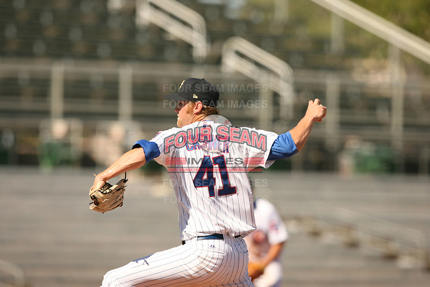 Andrew Cashner of the Mesa Solar Sox in Arizona Fall League action during the 2009 season, in Phoenix, AZ. (Photo by David Stoner/ Four Seam Images)