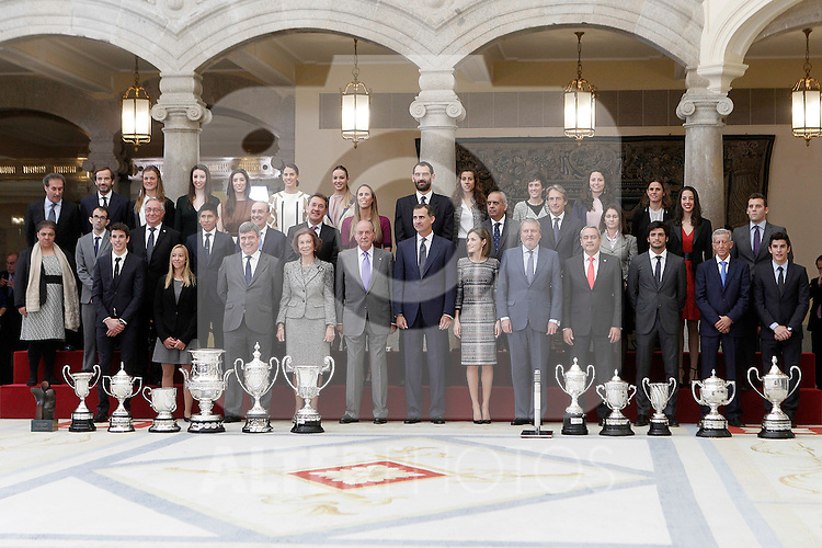 Spanish Royals with the winners in the National Sports Awards 2014. November 17, 2015 in Madrid, Spain.(ALTERPHOTOS/Acero)