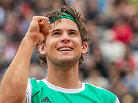 Paris, France, 7 June, 2017, Tennis, French Open, Roland Garros,  Dominic Thiem (AUT) in jubilation after defeating second seeded Novak Djokovic (SRB)<br /> Photo: Henk Koster/tennisimages.com