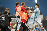Celta de Vigo's players celebrate goal during Spanish Kings Cup match. January 27,2016. (ALTERPHOTOS/Acero)
